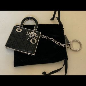 LADY DIOR RADIANT COUTURE TOUCH UP HANDBAG KEYRING